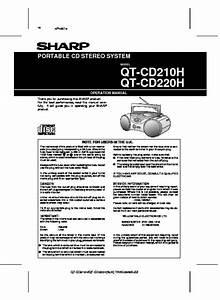 Sharp Qt  Operation Manual  U2014 Page 8