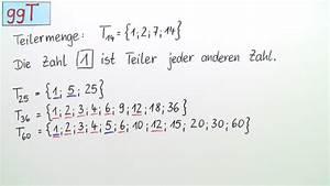 Ggt Und Kgv Berechnen : gr ter gemeinsamer teiler ggt einf hrung mathematik ~ Themetempest.com Abrechnung