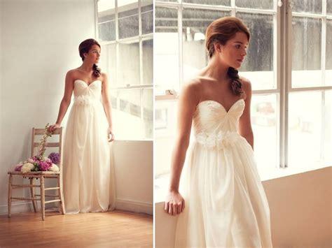 Strapless Sweetheart Neckline Empire Wedding Dress With