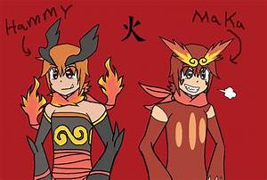 Emboar and Darmanitan Gijinka by izzywolf123 on DeviantArt