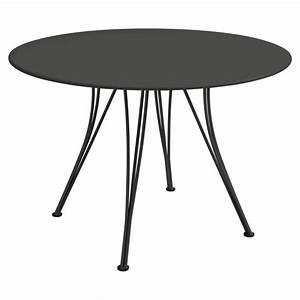 Table Ronde Noire : table ronde rendez vous de fermob noir r glisse ~ Teatrodelosmanantiales.com Idées de Décoration