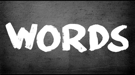 Words (official Lyric Video)