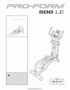 Proform 500 Le Elliptical
