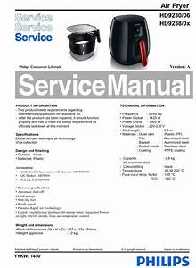 Philips Airfryer Hd9238   Hd9230 Original Service Manual