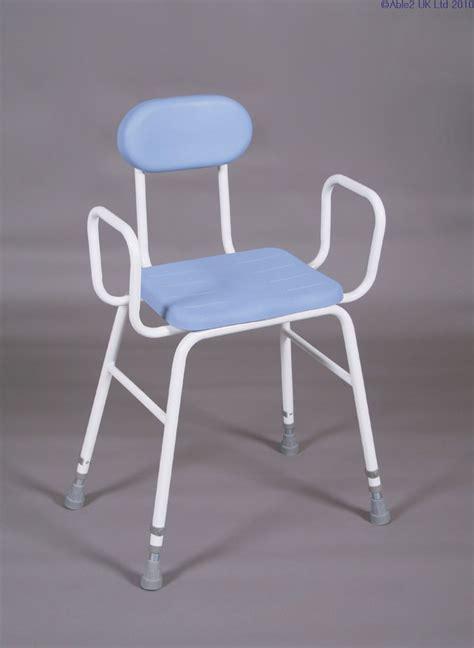 Perching Stool PU Seat   arms and padded back   Oakham