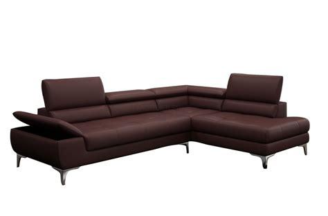 mobilier de canapé d angle canapé d 39 angle en cuir italien 6 places bertoni chocolat