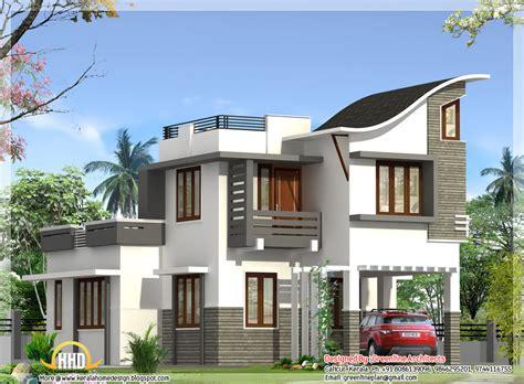 contemporary indian style villa  sqft kerala home