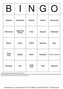 Astronomy Bingo Cards to Download, Print and Customize!