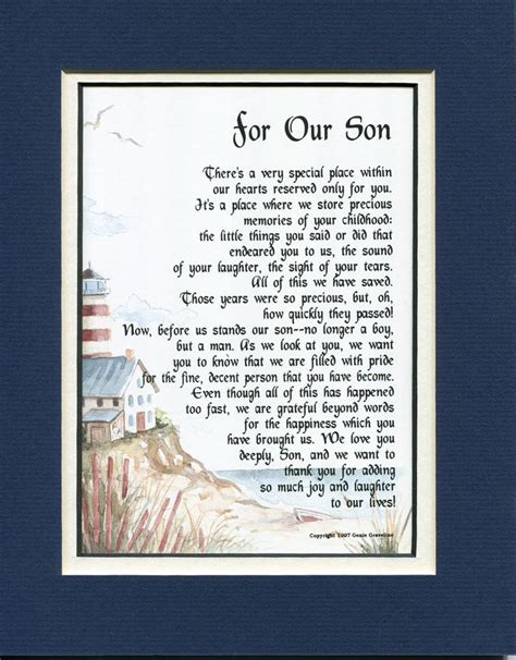 son grown children sons poems