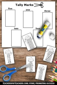 tally marks worksheets st grade math review  promoting