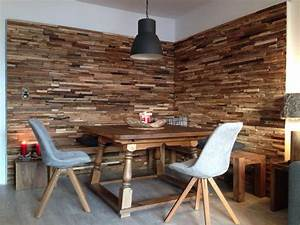 Echtholz Wohnzimmer Wand