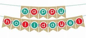 Printable Happy Holidays Banner | BLACK+DECKER Laminating