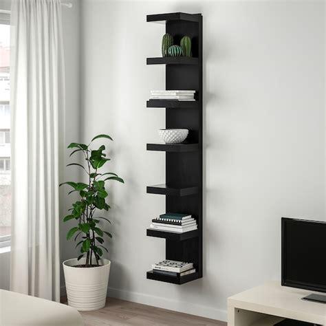 lack wall shelf unit black brown    ikea