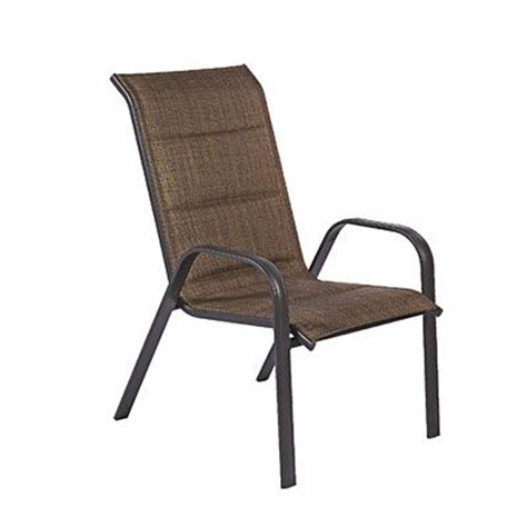 Stack Sling Patio Chair by Wilson Fisher 174 Oversized Padded Sling Stack Chair At Big