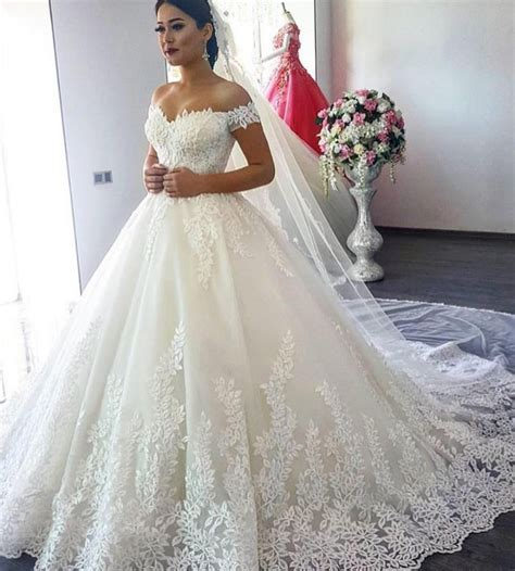 Buy Luxury Lace Ball Gown Long Sleeve