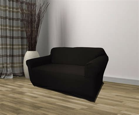 Sofa Recliner Covers by Black Jersey Sofa Stretch Slipcover Cover Chair