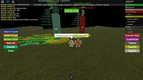 robux  kill tycoon  roblox slg