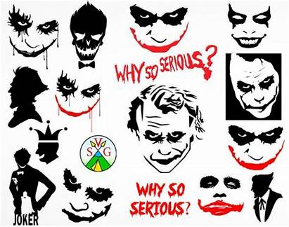 Joker Svg Serious Why Clipart Face Harley