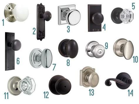 hardware for kitchen cabinets fourteen new interior door knob options 8711
