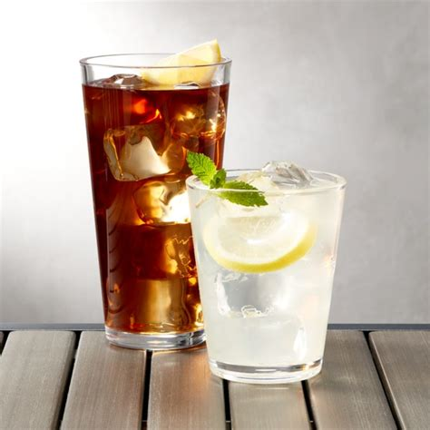 pop clear acrylic drink glasses crate  barrel
