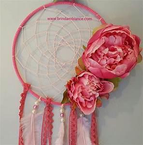 Création Avec Tissus : attrape r ve rose avec pivoines en tissu cr ation brin d 39 ambiance dinan pink dreamcatcher ~ Nature-et-papiers.com Idées de Décoration