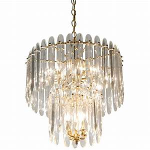 Chandelier with Large Crystals by Sciolari at 1stdibs