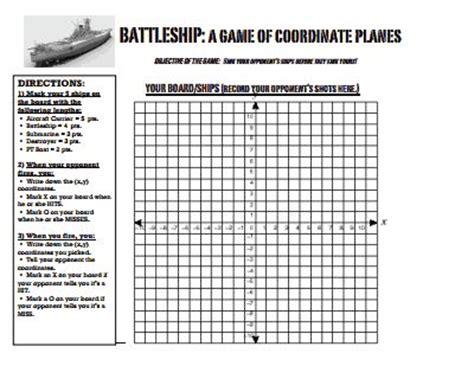 Battleship Coordinate Graphingpdf  Graphing Pinterest