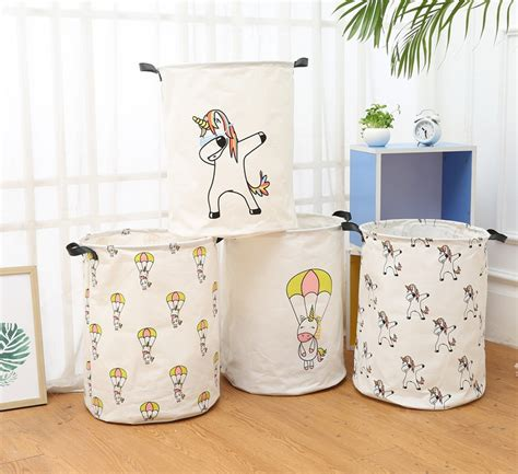 new nordic style canvas storage bag for toys clothes