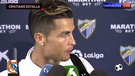 cristiano ronaldo se enoja en entrevista tras ser campeon