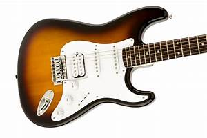 Guitars  U0026gt  Fender Squier Bullet Strat With Tremolo Hss  Brown Sunburst  Indian Laurel