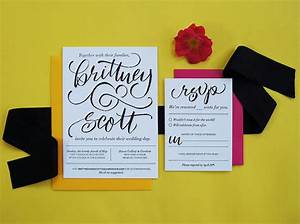 modern hand lettered wedding invitations With hand lettered invitations