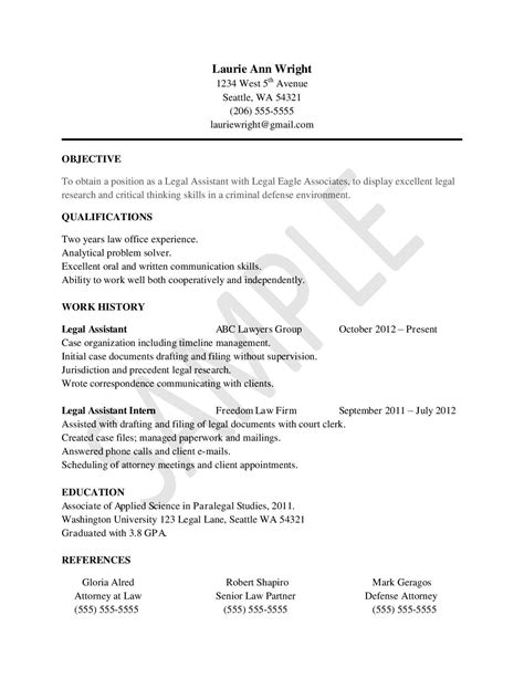 chronological resume sle assistant