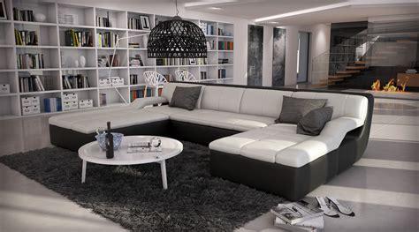 canapé designer canapé d 39 angle design en cuir large 1 789 00