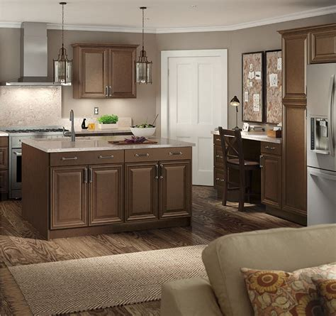 the home depot cabinets benton base cabinets in butterscotch kitchen the home