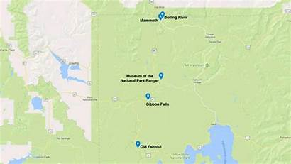 Yellowstone West Park National Springs Trip Route