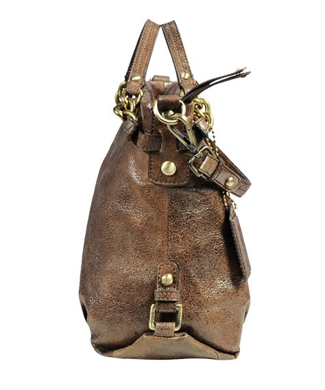 discount antique brown leather shoulder bag secretsales