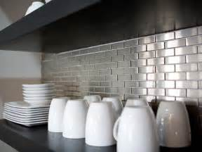stainless steel kitchen backsplash ideas stainless steel backsplashes pictures ideas from hgtv hgtv