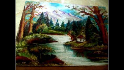 clases de dibujo  pintura paisaje  tiza pastel youtube