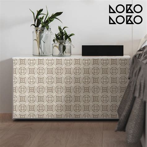 vinyl wrap furniture  vintage ceramic patterns