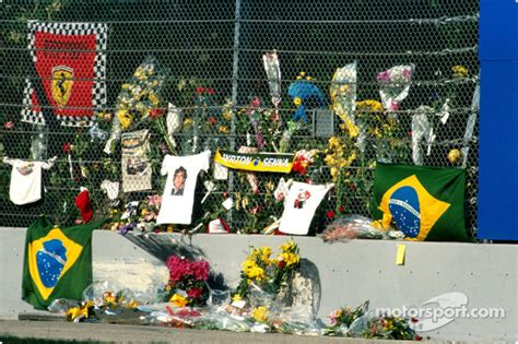 Ayrton Senna memorial at Tamburello at San Marino GP
