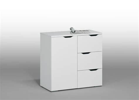 bureau contemporain pas cher meuble de rangement contemporain blanc 1 porte 3 tiroirs