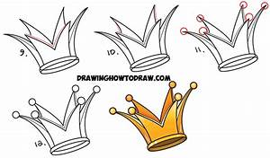 How To Draw A Crown - Drawing Cartoon Crowns