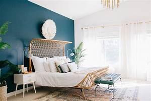 Mur Bleu Pétrole : 1001 id es pour choisir une couleur chambre adulte ~ Melissatoandfro.com Idées de Décoration