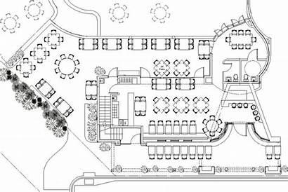 Plan Floor Drawing Restaurant Plans Drawings Restaurants