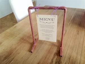 Porte Photo Original : comment pr senter son menu de mariage ~ Teatrodelosmanantiales.com Idées de Décoration