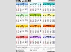 2018 Calendar With Federal Holidays Printable Calendar