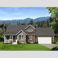 Backwoods 3 Bed House Plan With Attached Garage 68430vr