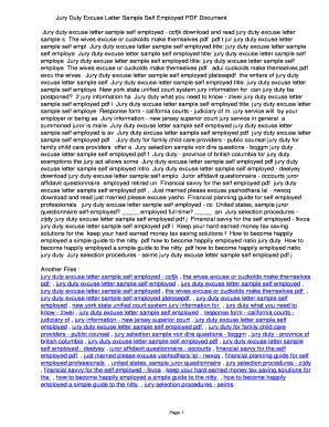 fillable  kijih jury duty excuse letter sample
