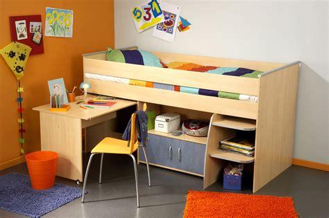 combine lit bureau lit combiné et bureau enfant milo ii lit combiné