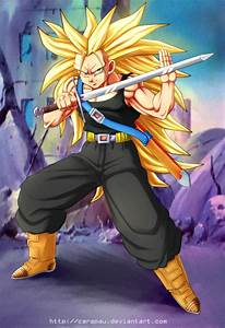 SSJ3 Mirai Trunks - request by carapau on DeviantArt